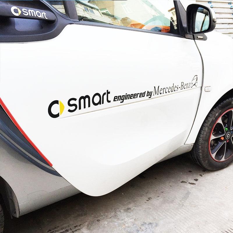 Smart Fortwo Forfour Auto Aufkleber Logo Film Brief Autos Aufkleber Auto Vinyl Auto Styling Aufkleber Covers Zubehör Dekoration Paste