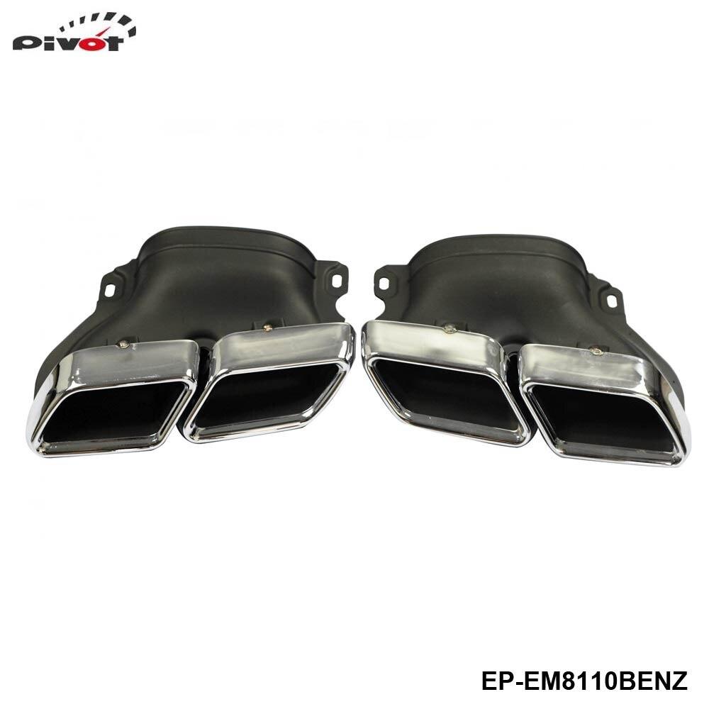 Silencieux embouts pour mercedes-benz W205 C Class C250 C300 C350 C63   304SS