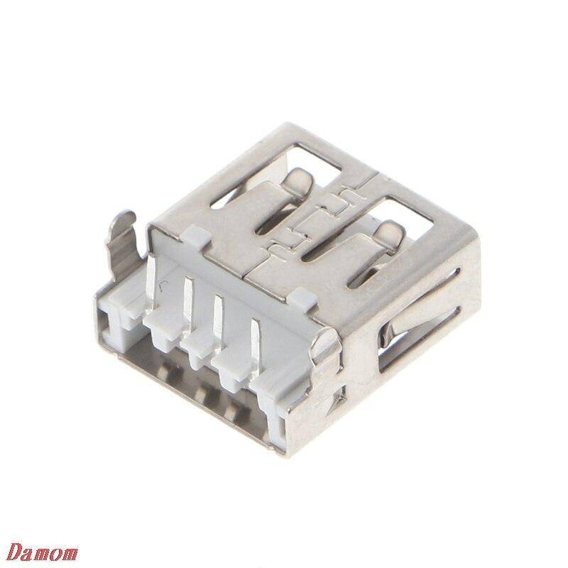 10 Uds USB 2,0 4 Pin tipo conector de enchufe hembra G54 2 pies de 90 grados Damom