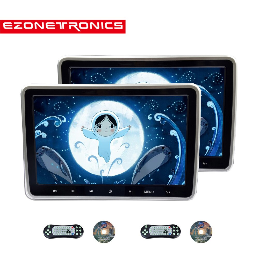 10.1inch Car Monitor Headrest DVD Player USB/SD/HDMI/IR/FM TFT LCD Screen Touch Button Game Remote C