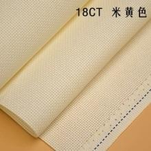 25x25cm Aida 18ct blanc tissu rose bleu noir rouge point de croix tissu toile couture à la main travaux manuels couture artisanat