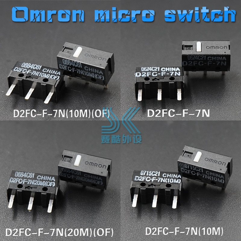 OMRON Mouse Micro Switch D2FC-F-7N 10M 20M OF Mouse Button D2FC-F-K(50m) FL-NH D2FS-F-N D2F-F D2F-01F-T D2F-F-3-7 Free shipping omron mouse micro switch d2f f 3 7 button suitable for 10m 20m 50m steelseries sensei 310 g304 g305 g602 g900 g903 free shipping