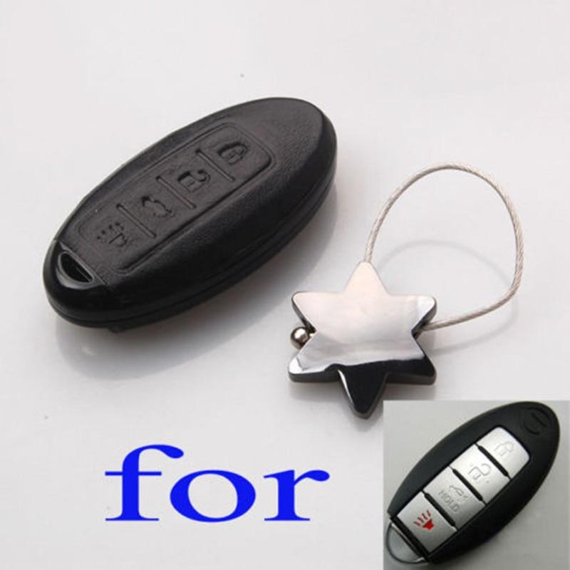 Barbacoa @ FUKA de cuero negro carcasa de llave de mando a distancia de coche Shell estuche protector apto para Infiniti Maxima Altima EX35 FX50 caja de llave remota inteligente Fob