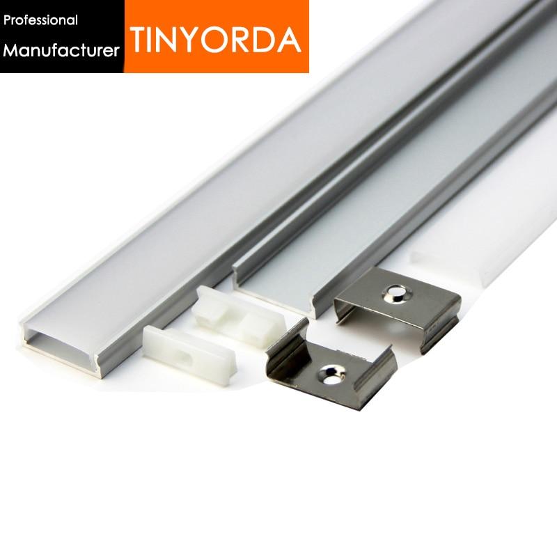 Tinyorda 500Pcs (2M Length) Led Strip Profile Led Channel Profil for 20mm LED Strip Light [Professional Manufacturer]TAP2406