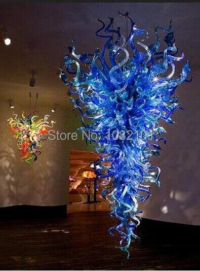 Iluminación de vidrio de Murano LED de CA envío gratis Venta de candelabro largo
