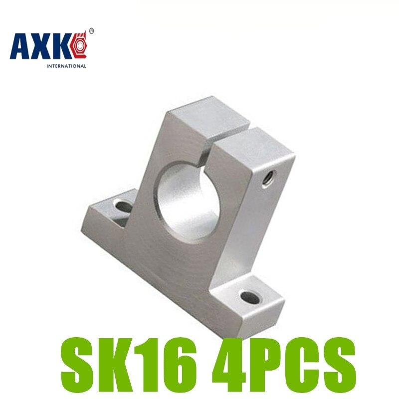 Axk 4 Uds Sk16 Sh16a 16mm eje soporte lineal varilla Cnc Router