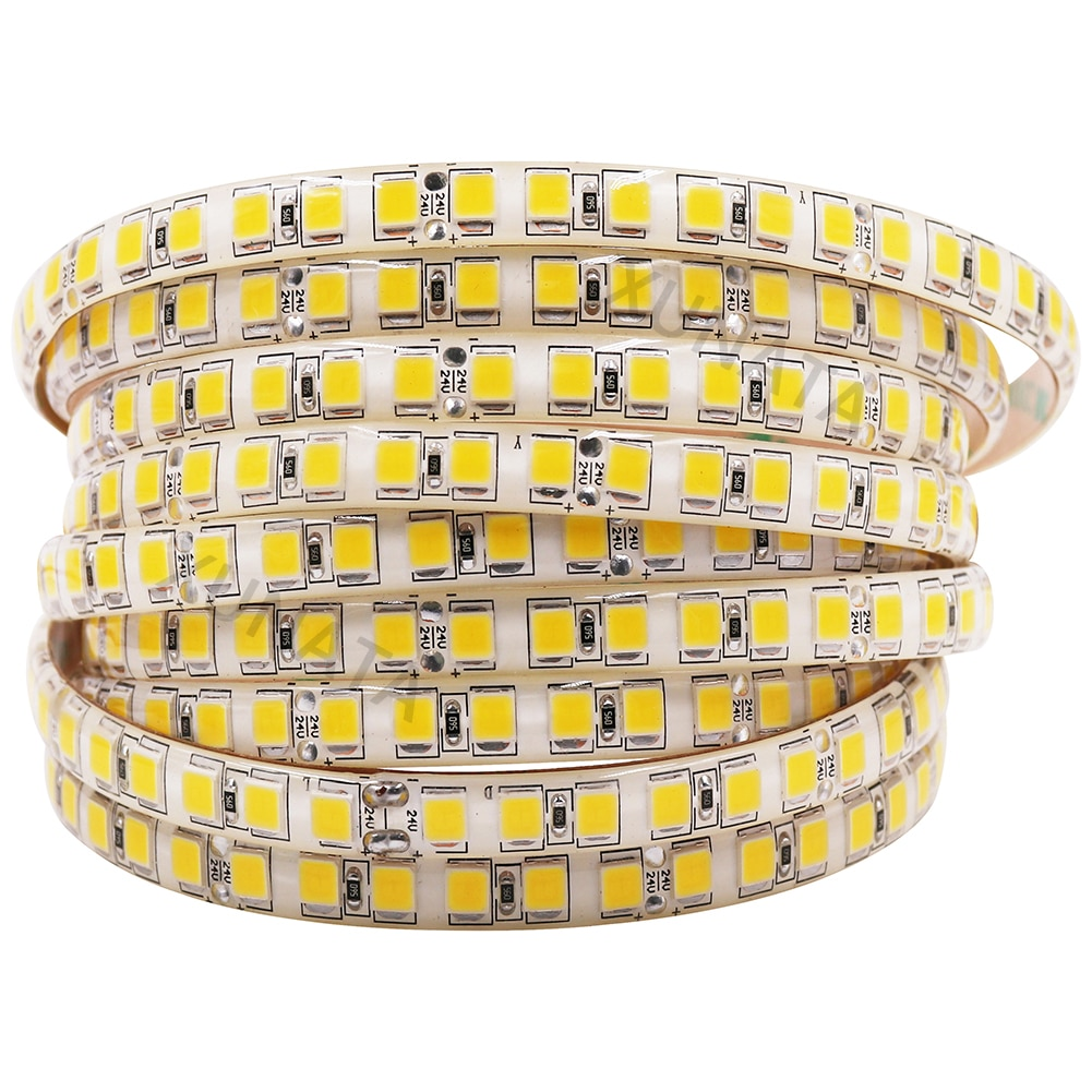 XUNATA 24V LED Strip Light 5054 SMD 5M 120LEDs/M Waterproof Flexible LED Ribbon more bright than 5050 2835 5630 Led stripe 12V