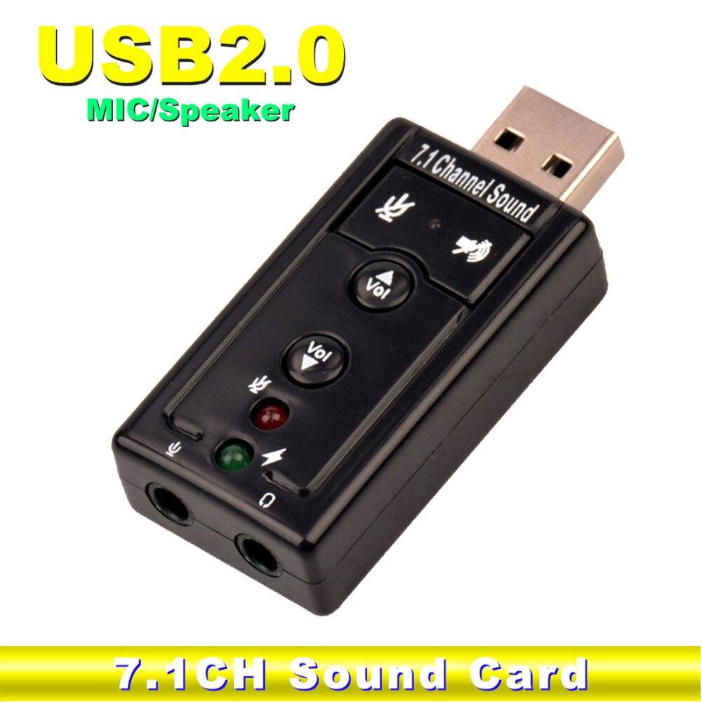 NOYOKERE External USB Audio Sound Card Adapter Virtual 7.1 USB 2.0 Mic Speaker Audio Headset Microphone