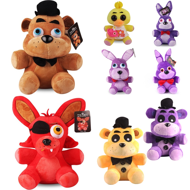 8 Styles 18cm FNAF Plush Toys Five Nights At Freddy's 4 Freddy Bear Chica Bonnie Foxy Plush Stuffed