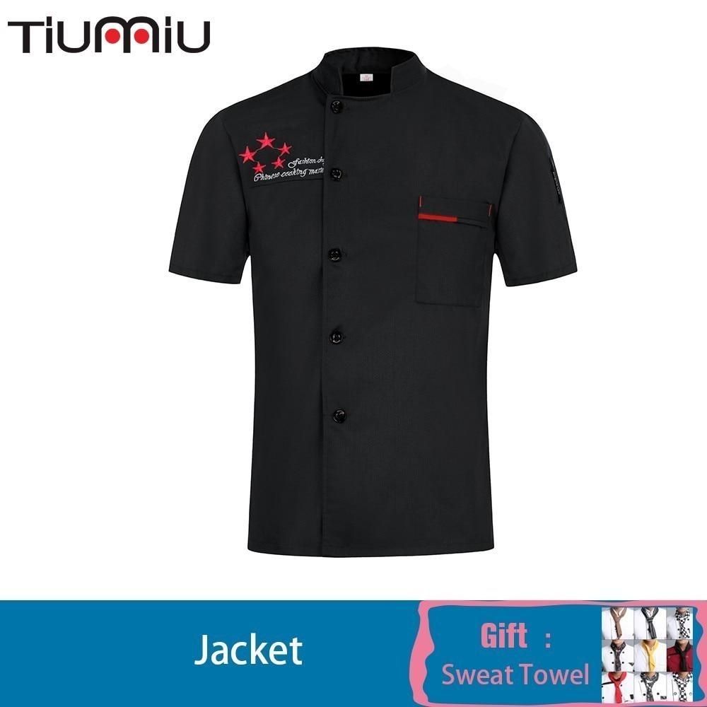 Chef roupas de cozinha unisex trabalho roupas cantina barbeiro restaurante uniforme carimbo nome personalize senhoras chef jaqueta hotel