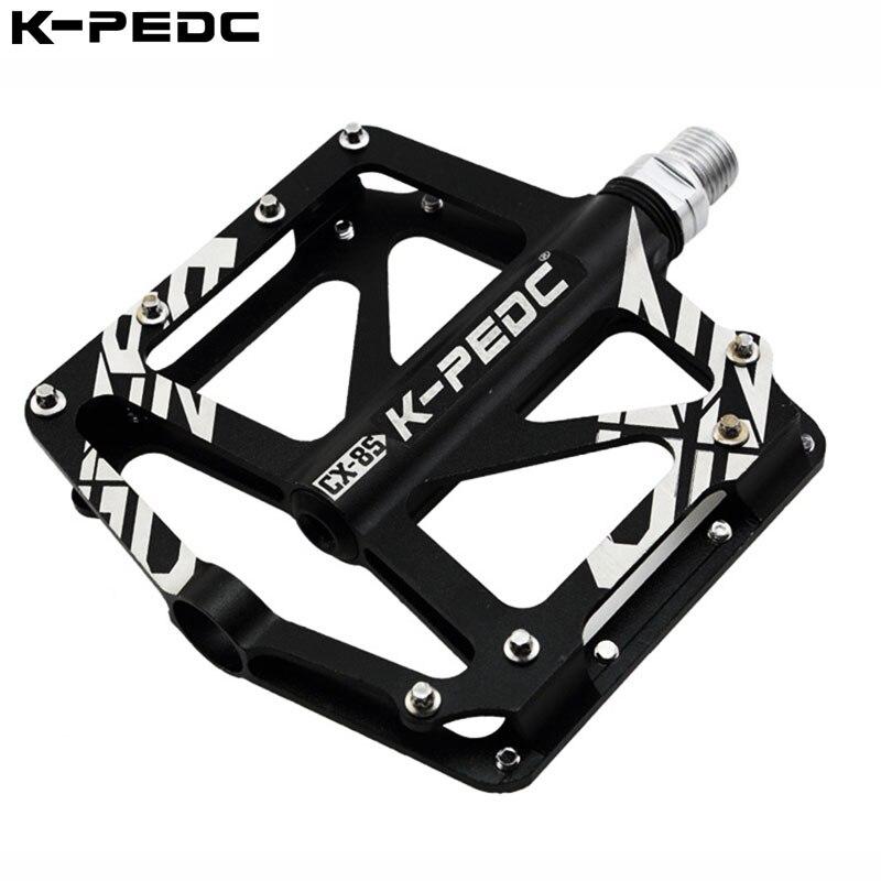 K-PEDC MTB pedales bicicleta mtb sellado 3 rodamientos de MTB pedales de aleación de aluminio de la bicicleta de montaña pedal Ciclismo de Carretera Accesorios