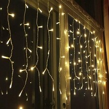3 m x 1 m 120 led 홈 야외 휴가 크리스마스 장식 웨딩 크리스마스 문자열 요정 커튼 garlands 스트립 파티 조명