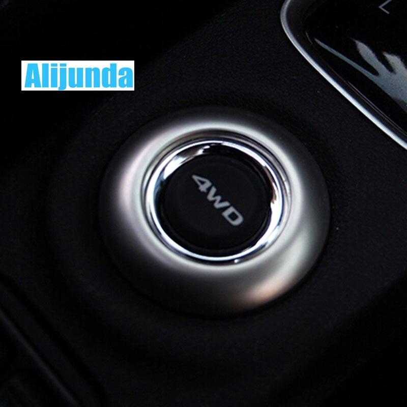 Alijunda para 2013 2014 Mitsubishi Outlander 4 wd, pegatina de botón, decoración de acero inoxidable, embellecedor para accesorios outlander