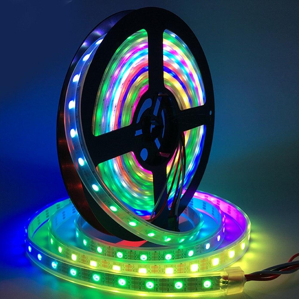 5V WS2812B Integrierten Led-streifen LED Streifen WS2812B Eingebaute 50 RGB LED Streifen LED String Licht D20