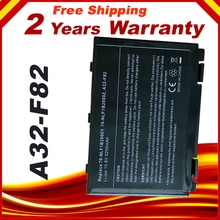 6 ZELLEN 5200 mAh Laptop batterie für ASUS K50I K50ID K50IJ K50IN A32-F82 X8B X8D Laptop, Freies verschiffen
