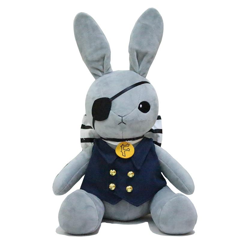 Kuroshitsuji Ciel Phantomhive conejo dibujo suave muñeco de juguete de peluche regalo + pista 46cm