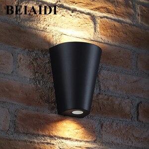 BEIAIDI 10W Outdoor COB LED Wall Lamp Triangle Waterproof Garden Porch Corridor Villas Balcony Sconce Wall Light AC85-265V
