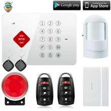(1 set) fabriek Android ISO App Draadloze GSM Alarmsysteem SIM Smart Home Inbreker Alarmsysteem Kit beter dan alar