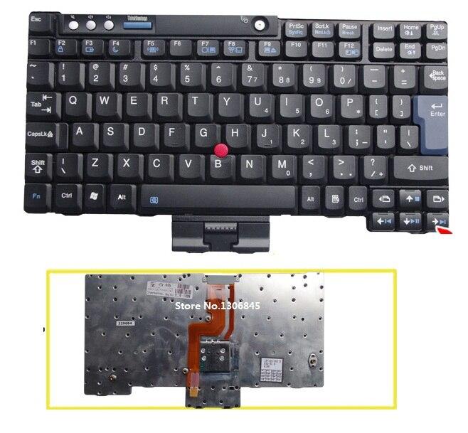 SSEA New UI Keyboard English For Lenovo IBM Thinkpad X60 X60S X60 TX61 X61S X61T laptop black keyboard