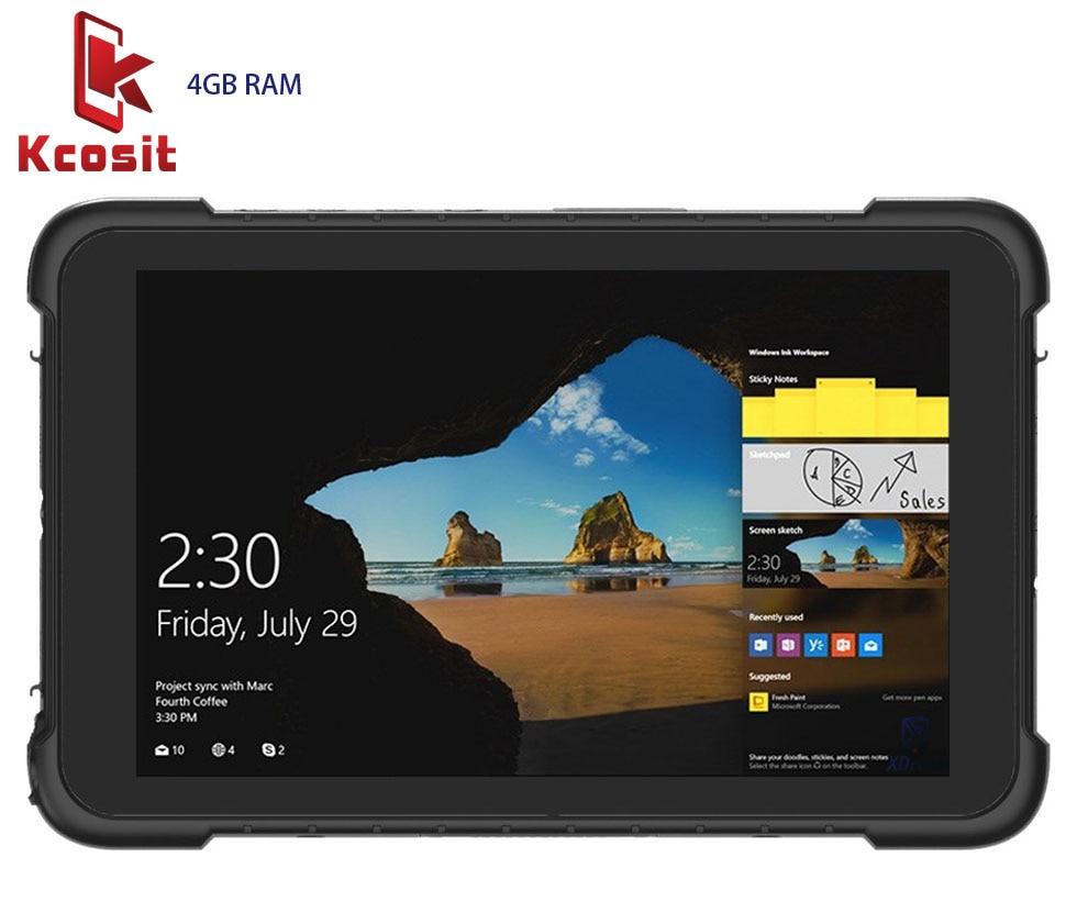 Rugged industrial Tablet PC Waterproof Mobile Computer Windows 10 Home 4GB RAM 64GB ROM HDMI USB 8500mAH 4G lte GPS