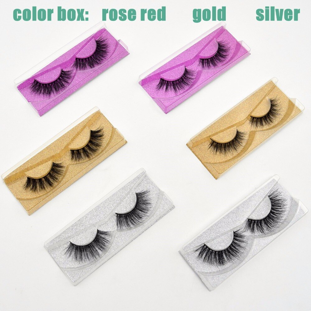Free DHL 50pairs Visofree Handmade natural real Mink false eyelashes Collection 3D Dramatic Lashes Glitter 33 Style wholesale