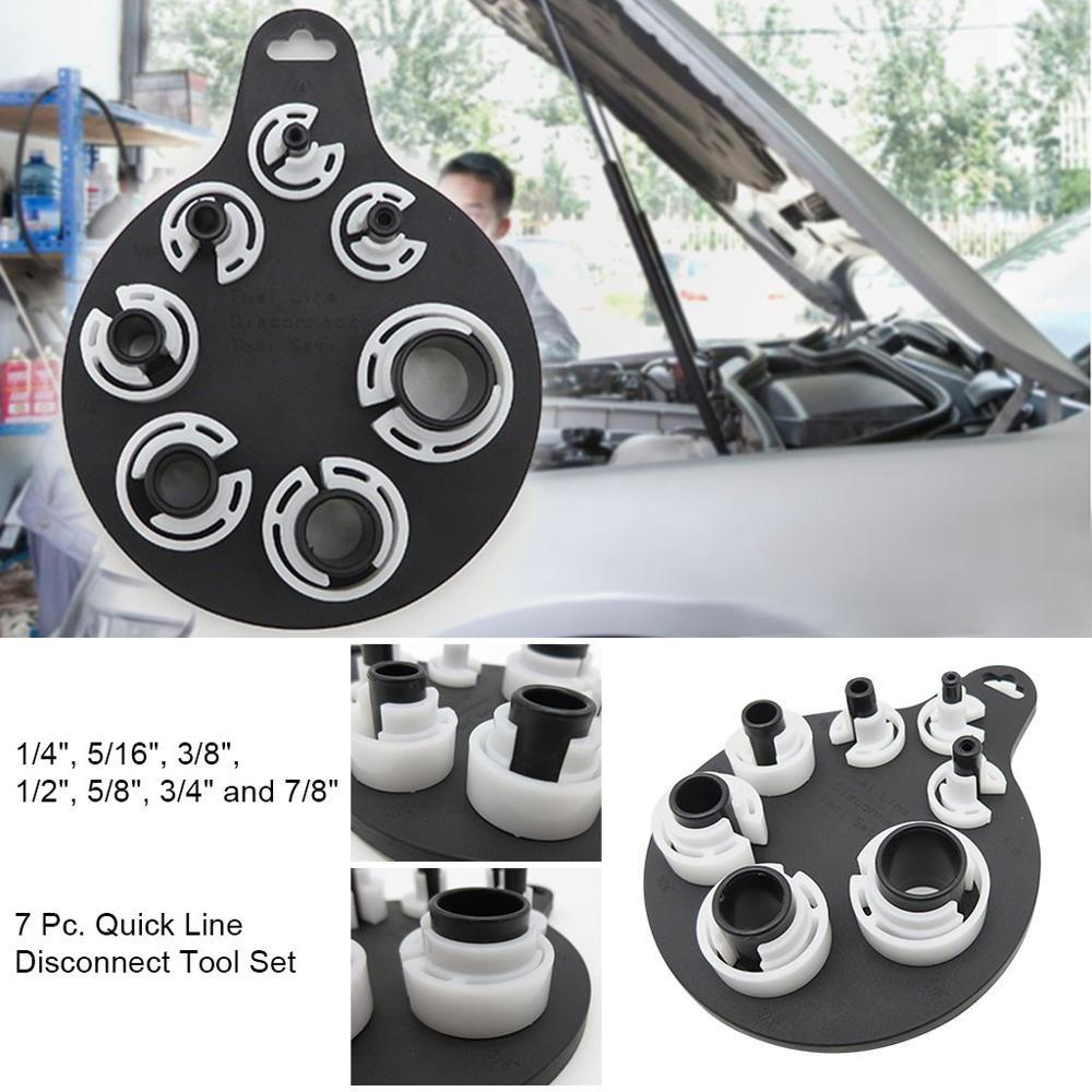 Juego de Herramientas de desconexión rápida de 7 piezas de transmisión de línea de combustible AC Kit de herramientas Extractor de embrague compresor   Removedor de aire acondicionado de coche @ 10