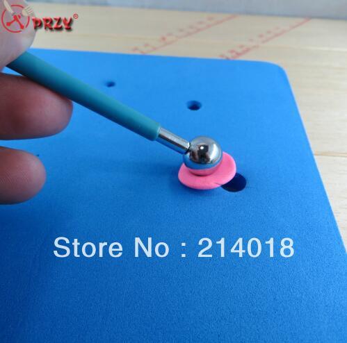 NO.:18236-4 4Pcs/Set Fondant Cake Decorating tools Clay Flower Sugar Craft Ball Modelling Cutter Tool Drop