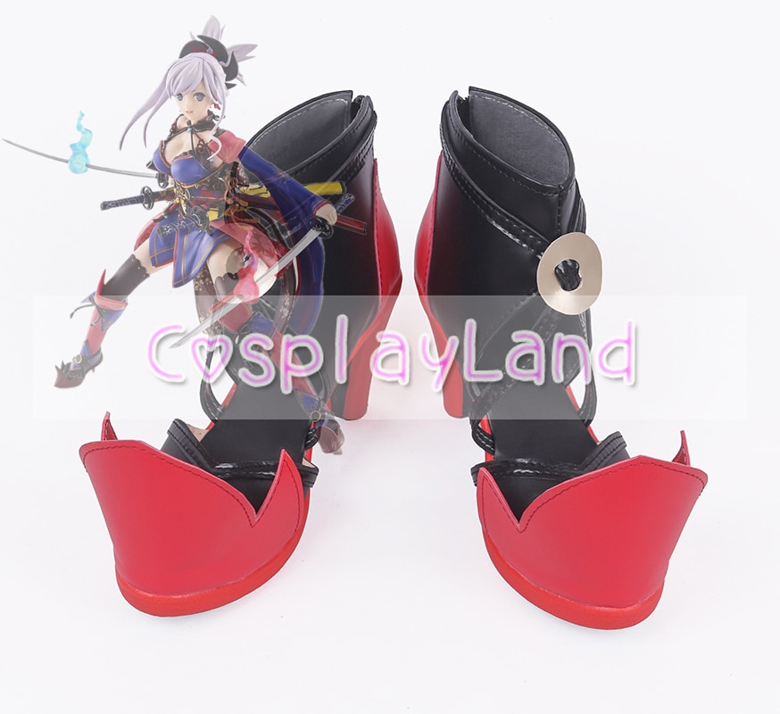 Fate Grand Order FGO Miyamoto Musashi botas de Cosplay zapatos para mujeres adultas zapatos accesorios hechos a medida Coaplay zapatos
