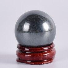 Boule de hématite naturelle 30mm   Sphère de Quartz et minéral naturel, Massage des mains, boule de cristal, guérison, accessoire de décoration pour la maison Feng Shui
