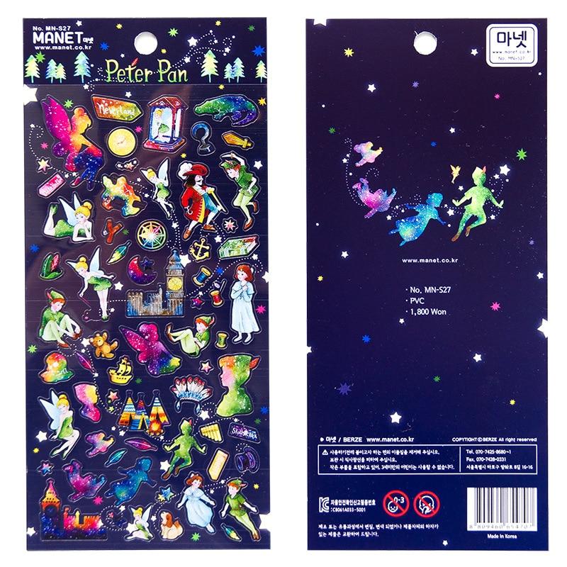 PetterPan Alice Dekorative PVC Aufkleber Scrapbooking Stick Label Tagebuch Koreanische Schreibwaren Album Aufkleber