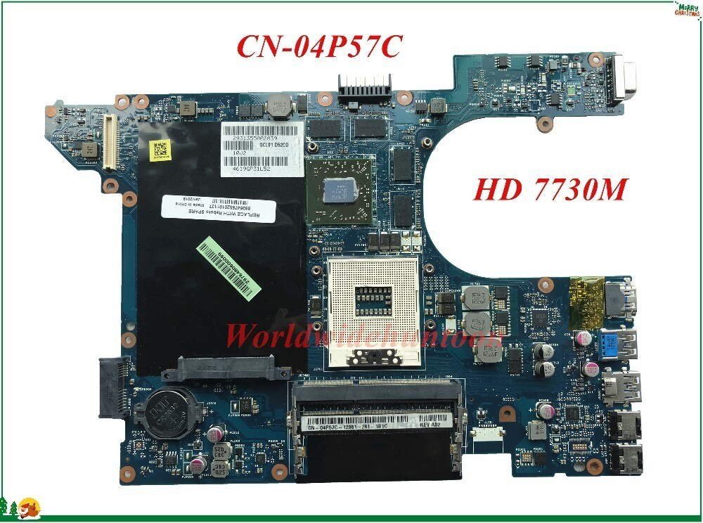 Alta qualidade mb 4p57c 04p57c CN-04P57C para dell inspiron 15r 7520 portátil placa-mãe qcl00 LA-8241P hm77 hd 7730 m 100% testado