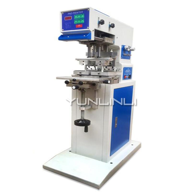 50W آلة وسم الهوائية الصناعية مزدوجة النفط لوحة مزدوجة رأس الطباعة اثنين من لون آلة الطباعة (مجموعة 600*60 مللي متر) GB-C5