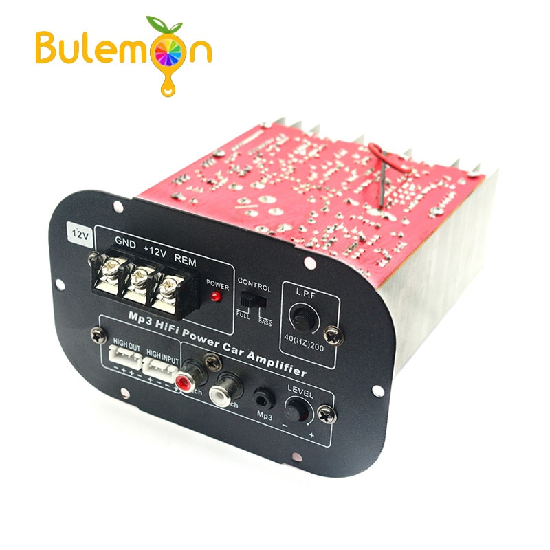 Alta Potencia 12V Subwoofer placa amplificadora de potencia tono completo Pure Bass Car Subwoofer Core 8 pulgadas 10 pulgadas 12 pulgadas 80W
