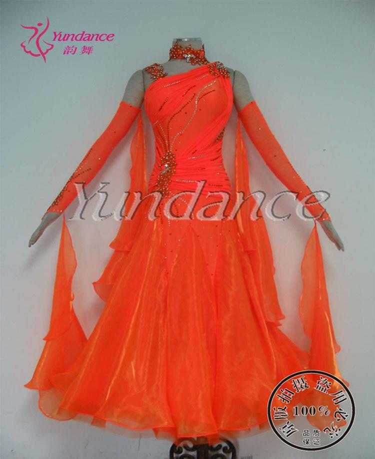 Ballroom Dance Dresses 2017 New Arrival Long Sleeve Stage Waltz Costume Women B-11779
