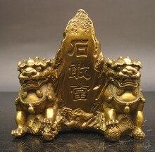 Lion en cuivre pierre de censure   Usine de bronze, vente en gros, lions pierre de Taishan moyen pierre de cuivre lion