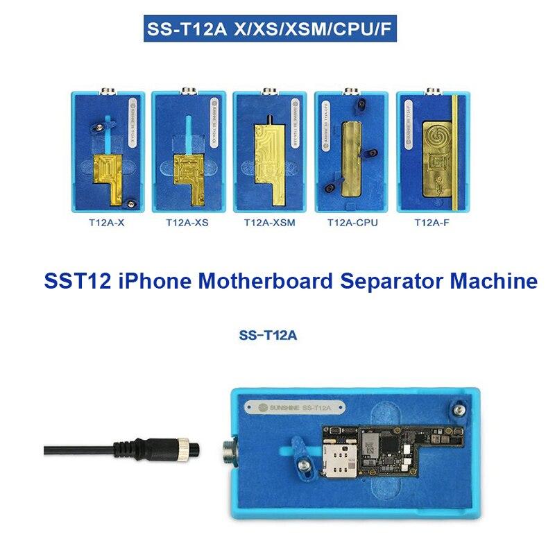 Nueva estación de calentamiento de separador de placa base SS-T12A para iPhone X/XS MAX CPU IC Chips reparación desmontaje removedor de pegamento