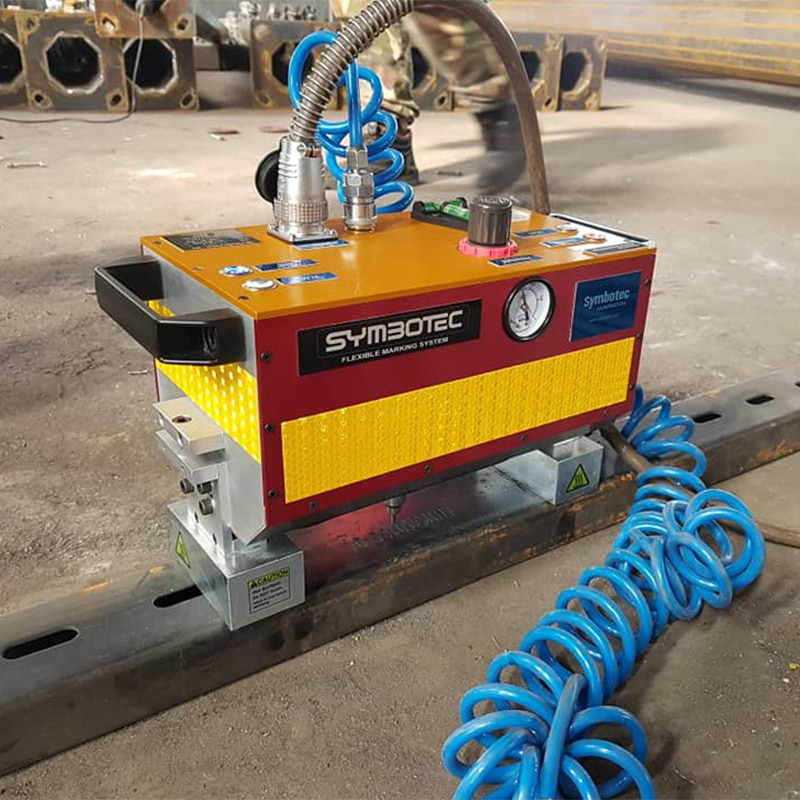 Máquina de marcado de pavimento Dot Pin máquina de marcado Máquina de grabado de Metal