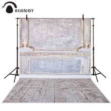 Allenjoy photocall photophone mur sol vintage cadre en bois panneau noël nouvel an photo arrière-plan photographique toile de fond
