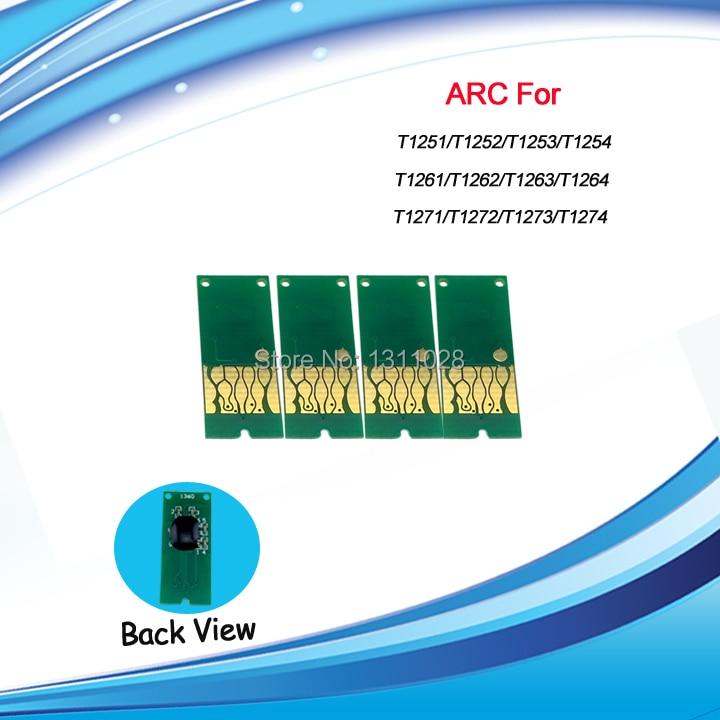 T1261-T1264 Compatible auto reset chip ARC for Epson Stylus NX430 NX330 WF-3520/3540 630 635 60 840  545 645 845 520,1 SETS