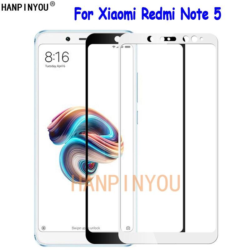 """Para Xiaomi Redmi Note 5 AI 5,99 """"cubierta completa de vidrio templado Protector de pantalla Ultra fino Premium a prueba de explosiones película protectora"""