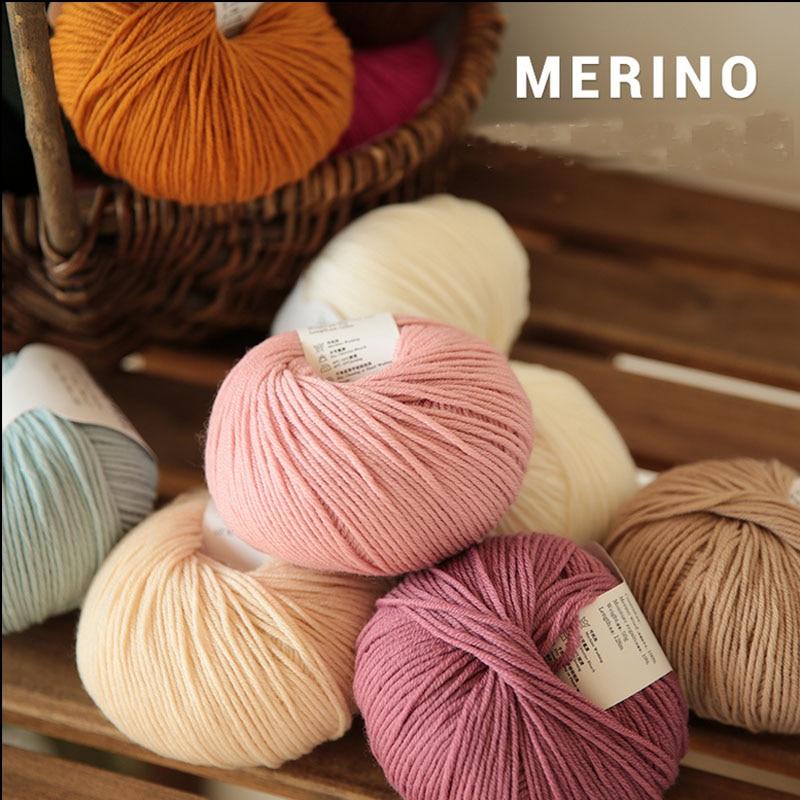 100% merino wool yarn hand knitting baby Kids soft thick yarn for knitting threads hand knit scarves socks cashmere yarn worsted