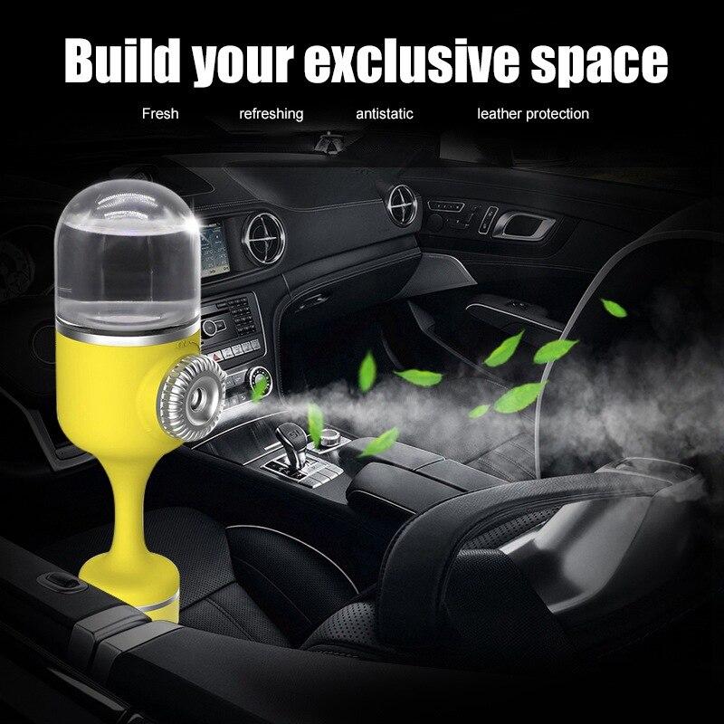 Nueva multifunción humidificador con Aroma para auto cargador USB humidificador purificador de aire humidificador con luz LED