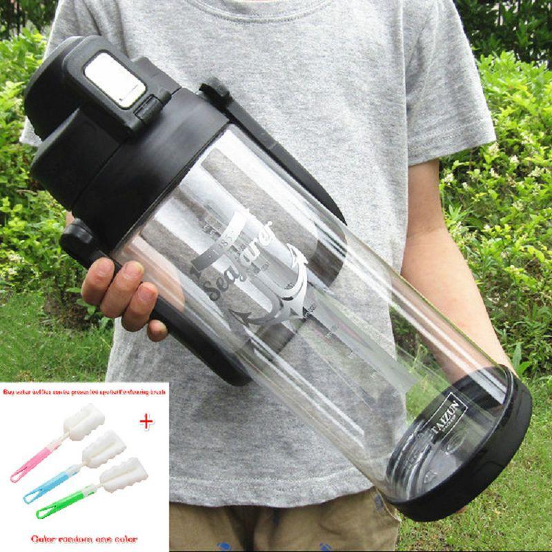 Gran capacidad 3000ml 2500ml mi botella de agua botellas de exterior portátil copo com canudo dar un copo brush botella de agua bebida