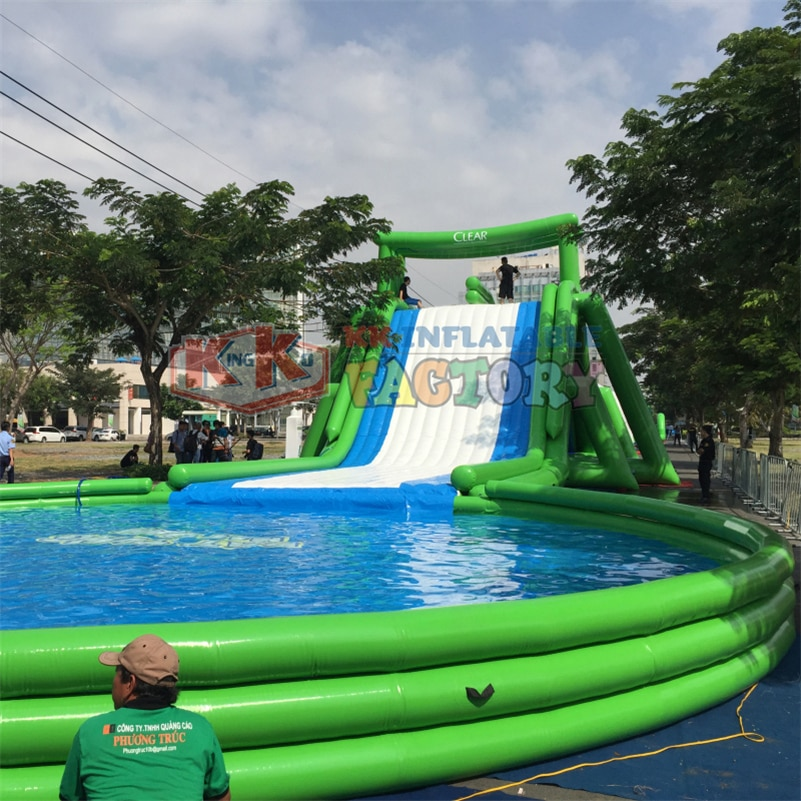 Vietnam Giant commercial inflatable water slide Government Activity entertainment inflatable water slip n slide