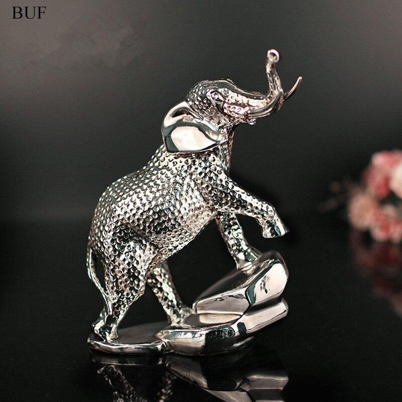 Estatua de elefante de resina moderna BUF, adornos de resina, decoración para el hogar, accesorios de regalo, escultura de resina de elefante