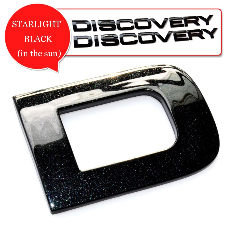 Starlight brilho brilhante preto ouro cinza prata letras emblema emblema capô do carro tronco traseiro logotipo adesivo para land rover discovery 5