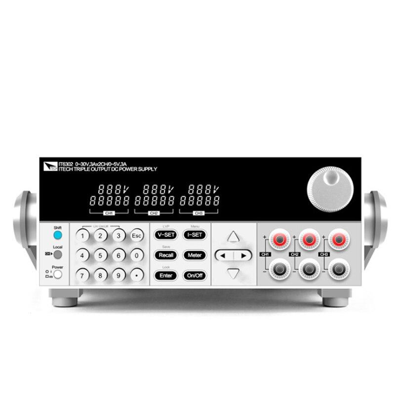 ITECH IT6302 3 canal programable fuente de alimentación DC 30V/3A/90W