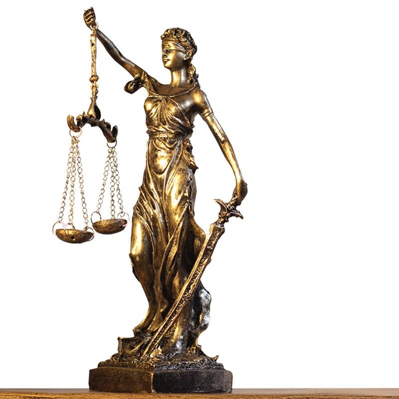 Aqumotic Grecia Justitia justizia justicia justo diosa manualidades Retro Accesorios decoración Europea creativa retro Cafe escultura