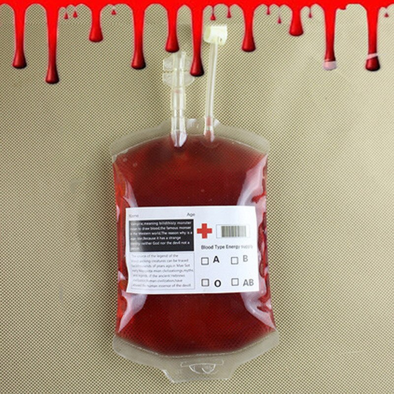 Bolsa de bebida transparente de 300Ml, bolsa de sangre de simulación, decoración para fiesta de halloween, suministros para despedida de soltera