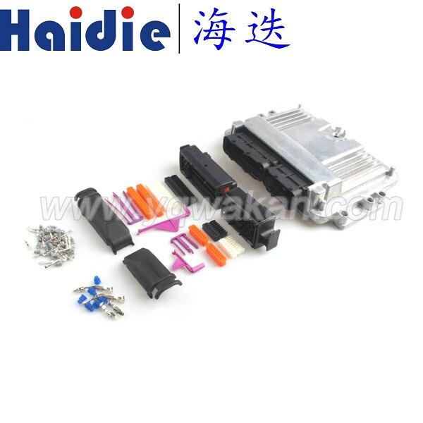 صندوق من الألومنيوم لوحدة التحكم الإلكترونية 121p ، شحن مجاني ، علبة 121pin ، محرك سيارة LPG CNG ، تحويل ذكر وأنثى
